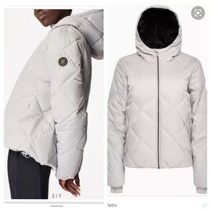 Sweaty Betty Pioneer Quilted Hooded Puffer Coat L